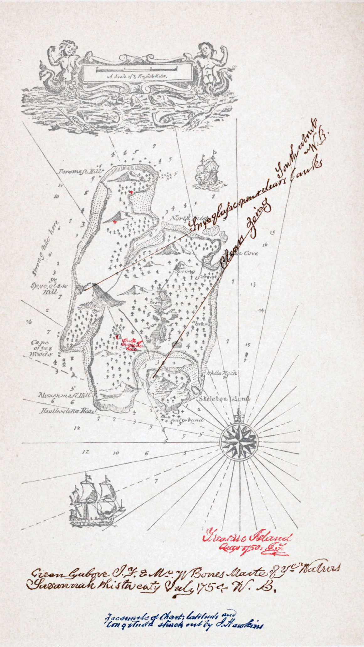 Robert Louis Stevenson's map of Treasure Island (Source: Wikipedia)