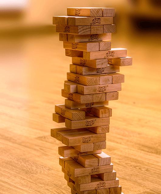 Jenga tower (Source: Guma89/Wikimedia Commons)