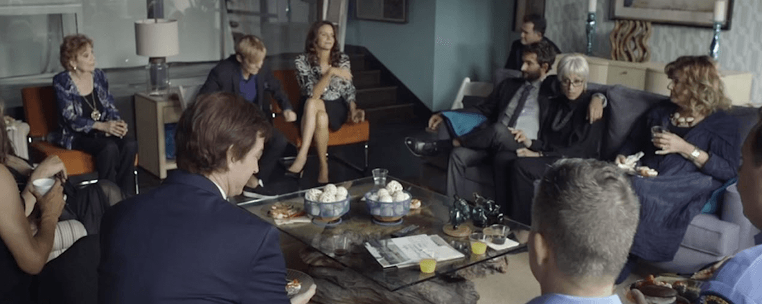 """A scene from Amazon Studios' """"Transparent"""" where people are sitting shiva (Source: My Jewish Learning/YouTube)"""