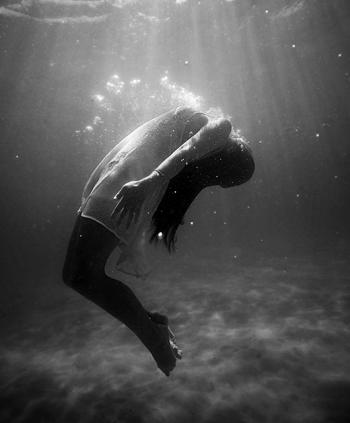 Floating in Black & White