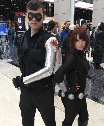 Andrew as Winter Soldier; Lizz as Black Widow (Source: Lizz Dworak)
