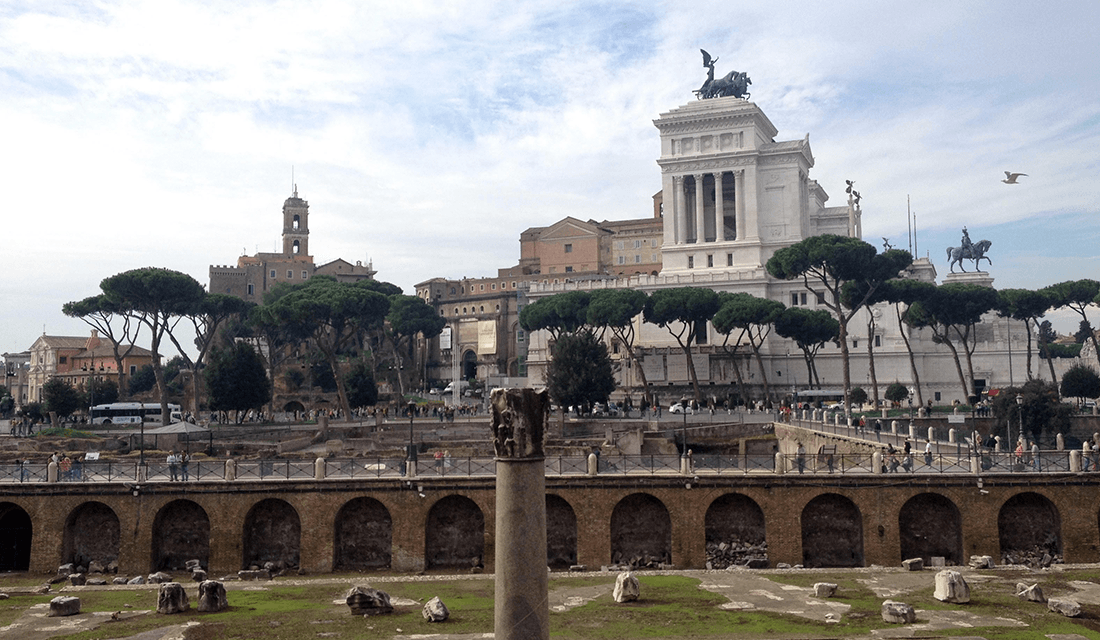 View from Trajan Market (Source: Katie Rosengarten)