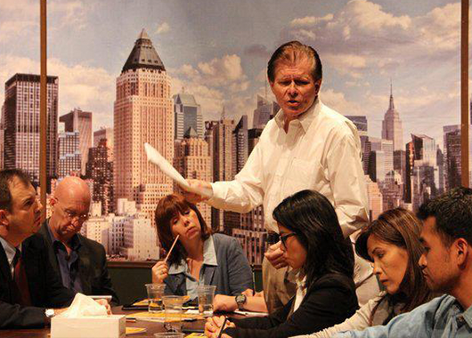 "2012 production of ""Twelve Angry Men"" (Source: Jakarta Players)"
