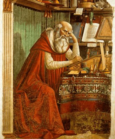 "1480 Fresco titled ""Saint Jerome in his Study"" by Domenico Ghirlandaio (Source: Wikimedia Commons)"