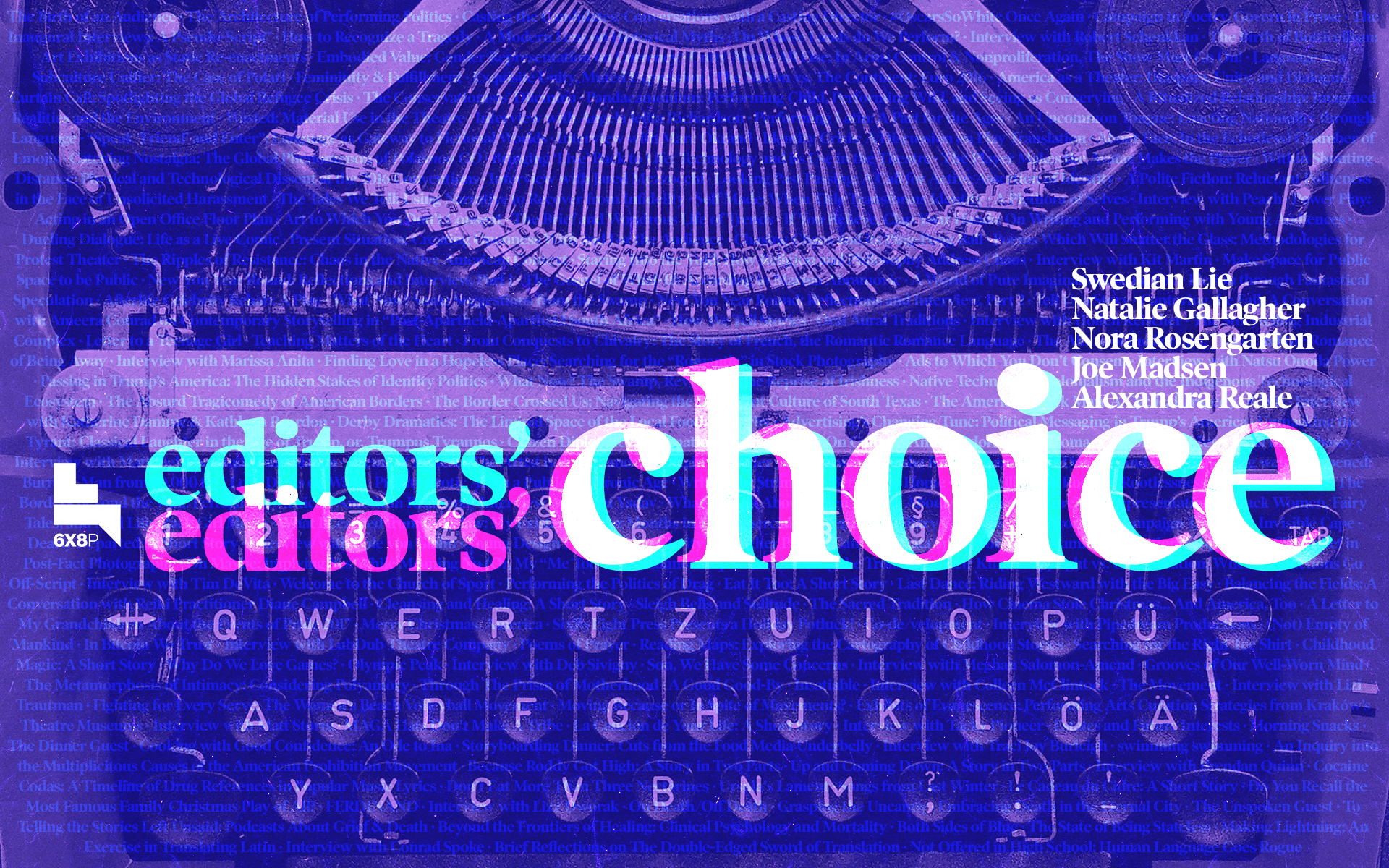 Issue.32: Editors' Choice