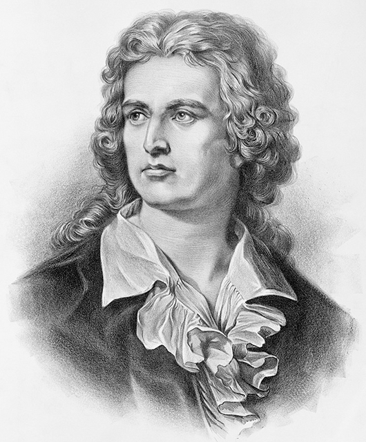 Lithograph of Friedrich von Schiller (Source: Library of Congress/Wikipedia)