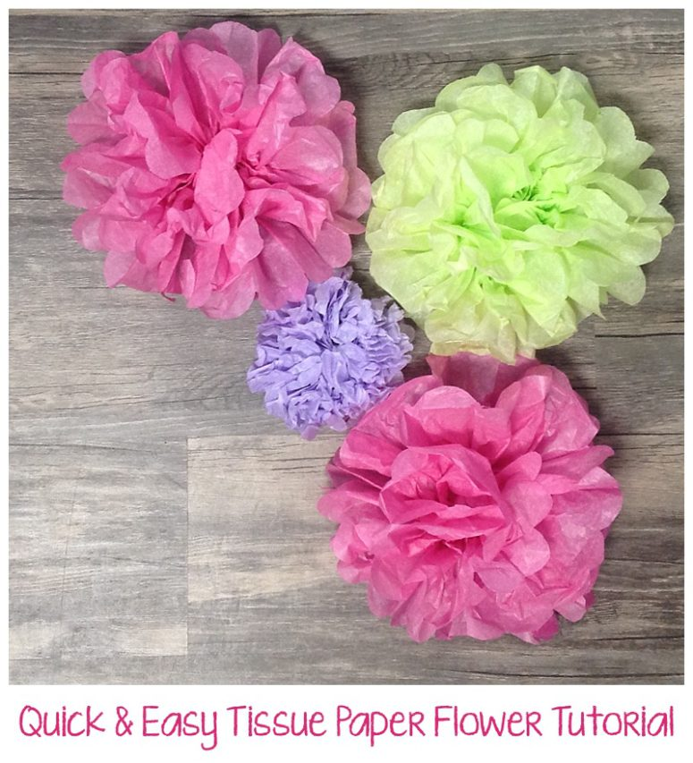 Quick easy tissue paper flower tutorial six clever sisters mightylinksfo