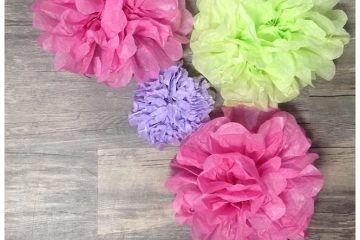 Tissue Paper Flowers | Party Decor | DIY Flowers | Craft Time | Looking to add a bit of decor to your next party? Learn how to make these easy tissue paper flowers on Six Clever Sisters. You can put them just about anywhere!