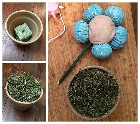 Fabric Puff Flower