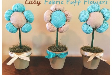 Fabric Puff Flowers