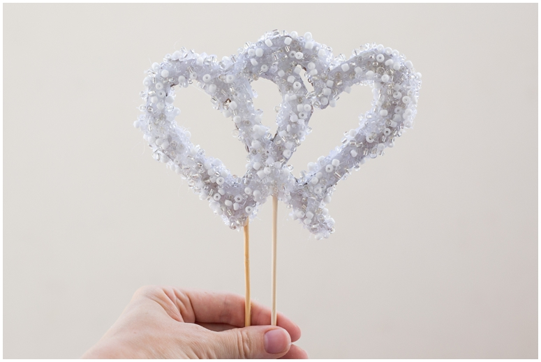 Easy DIY Wedding Cake Topper - Six Clever Sisters