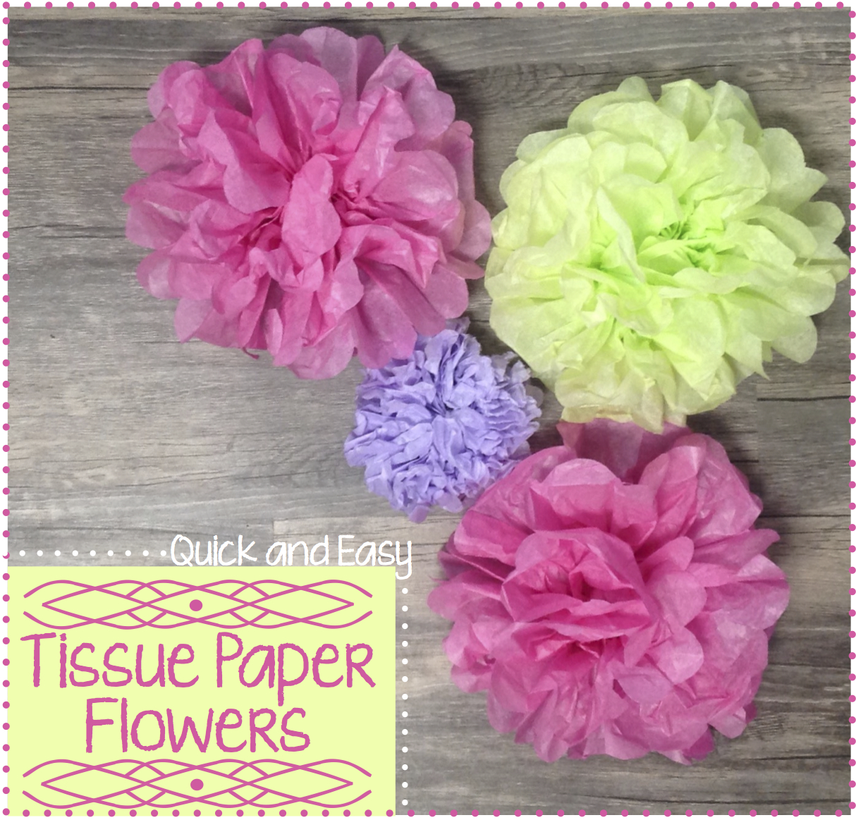 Quick And Easy Tissue Paper Tutorial Six Clever Sisters