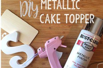 DIY Metallic Cake Topper