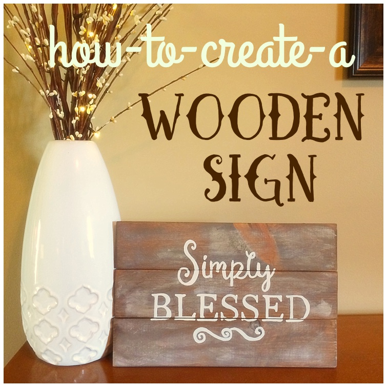 Simply Blessed Wooden Sign