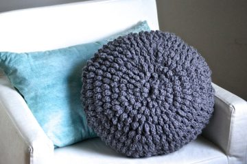 crochet puff pouf pillow free pattern
