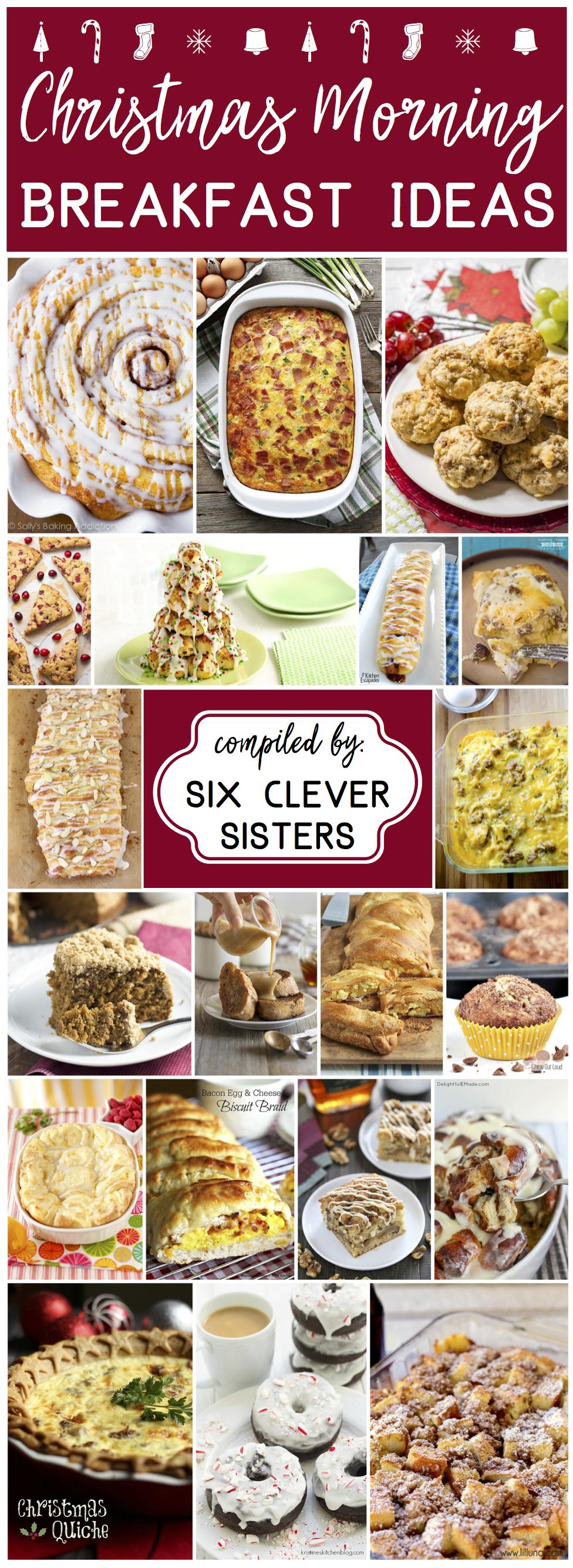 Christmas Morning Breakfast Ideas #breakfast #makeahead #cinnamon #parties #holiday #recipes