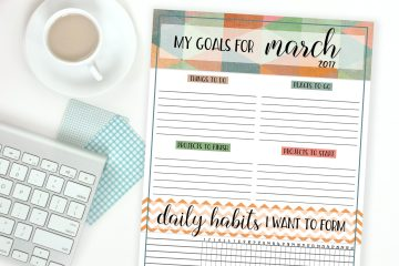 Goals Worksheet | Goal Setting | Free Printable | Goals | Free printable goal-setting worksheet is month-by-month to help you break down those big goals into smaller, reachable goals! Visualize your goals with this printable available at the Six Clever Sisters blog!