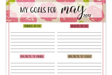 Free Printable Goals Worksheet | free printable | printable worksheet | goals worksheet | goals printable | Download our free printable goals worksheet each month on the Six Clever Sisters blog!