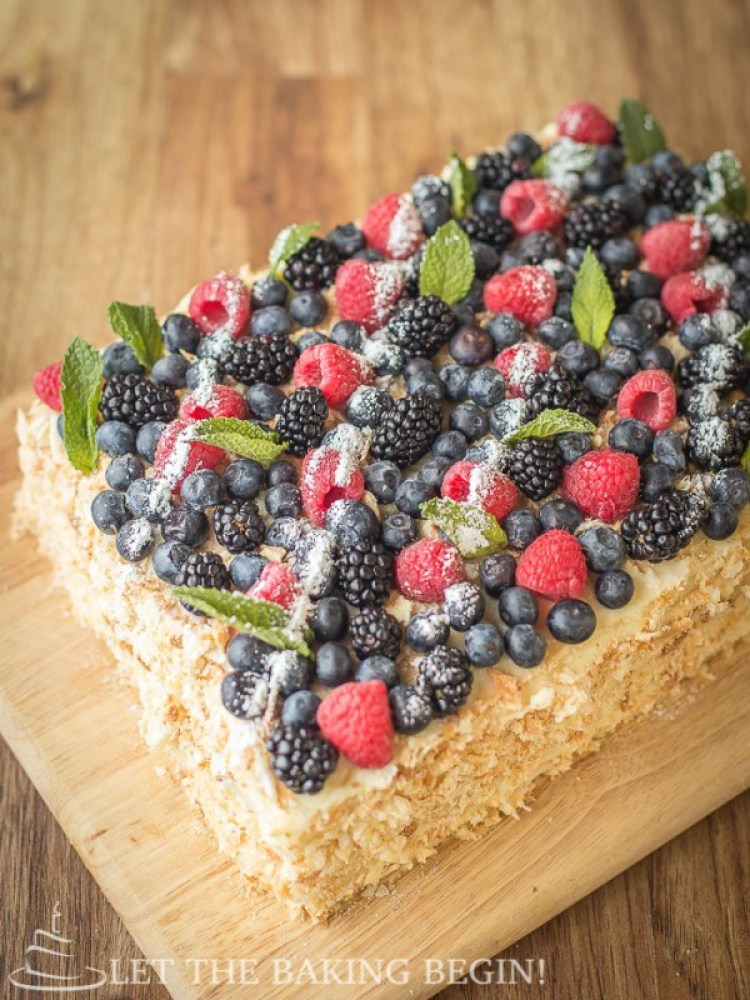 Spring Desserts | Gorgeous Dessert | Beautiful Cake Recipe | Summer Dessert Recipes | Yummy Desserts | Fruit Desserts | Chocolate Desserts | Fancy Elegant Desserts | Impressive Dessert Recipe | Eye Catching | Six Clever Sisters | Mothers Day Ideas | Mothers Day Recipe | Napoleon Rectangle