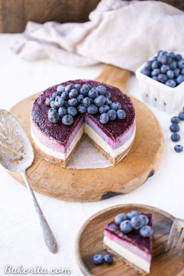 Spring Desserts | Gorgeous Dessert | Beautiful Cake Recipe | Summer Dessert Recipes | Yummy Desserts | Fruit Desserts | Chocolate Desserts | Fancy Elegant Desserts | Impressive Dessert Recipe | Eye Catching | Six Clever Sisters | Mothers Day Ideas | Mothers Day Recipe | No Bake Layered Blueberry Cheesecake