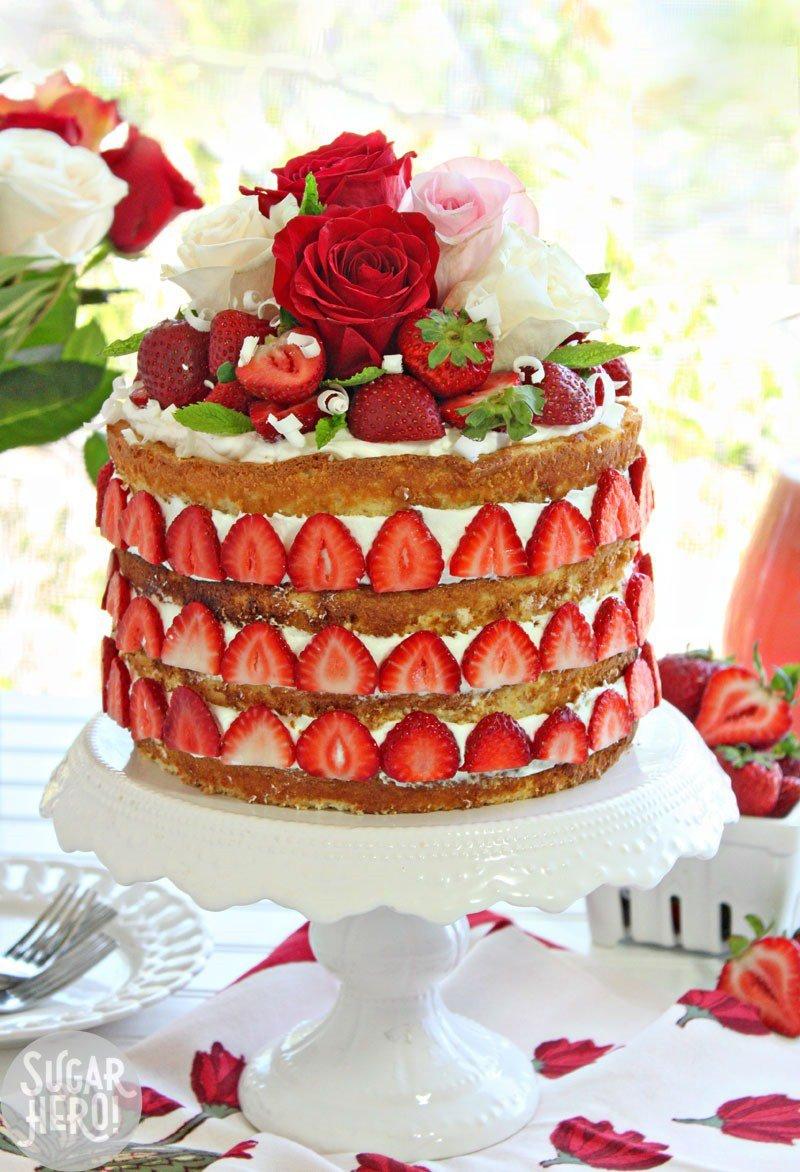Spring Desserts | Gorgeous Dessert | Beautiful Cake Recipe | Summer Dessert Recipes | Yummy Desserts | Fruit Desserts | Chocolate Desserts | Fancy Elegant Desserts | Impressive Dessert Recipe | Eye Catching | Six Clever Sisters | Strawberry Rhubarb Cake | Mothers Day Ideas | Mothers Day Recipe