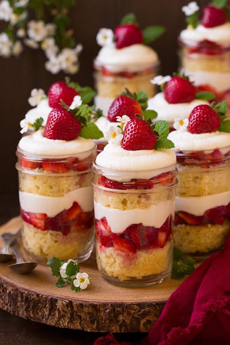 Spring Desserts | Gorgeous Dessert | Beautiful Cake Recipe | Summer Dessert Recipes | Yummy Desserts | Fruit Desserts | Chocolate Desserts | Fancy Elegant Desserts | Impressive Dessert Recipe | Eye Catching | Six Clever Sisters | Mothers Day Ideas | Mothers Day Recipe | Strawberry Shortcake Trifles