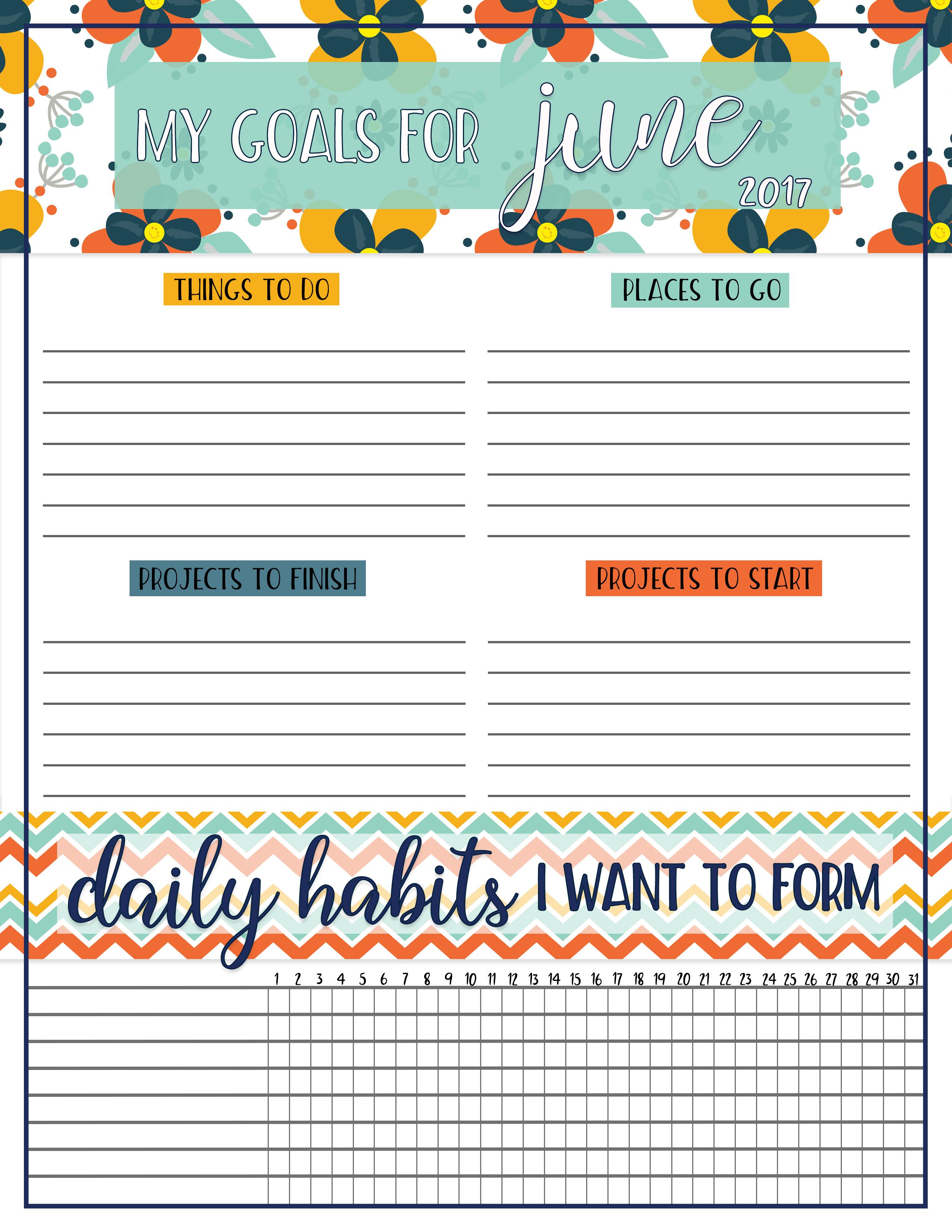 Goals Worksheet