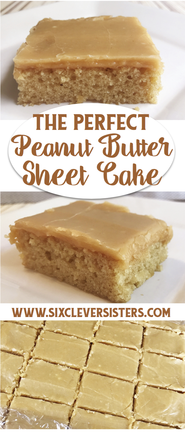 Chocolate Peanut Butter Sheet Cake With Peanut Butter Frosting Recipe