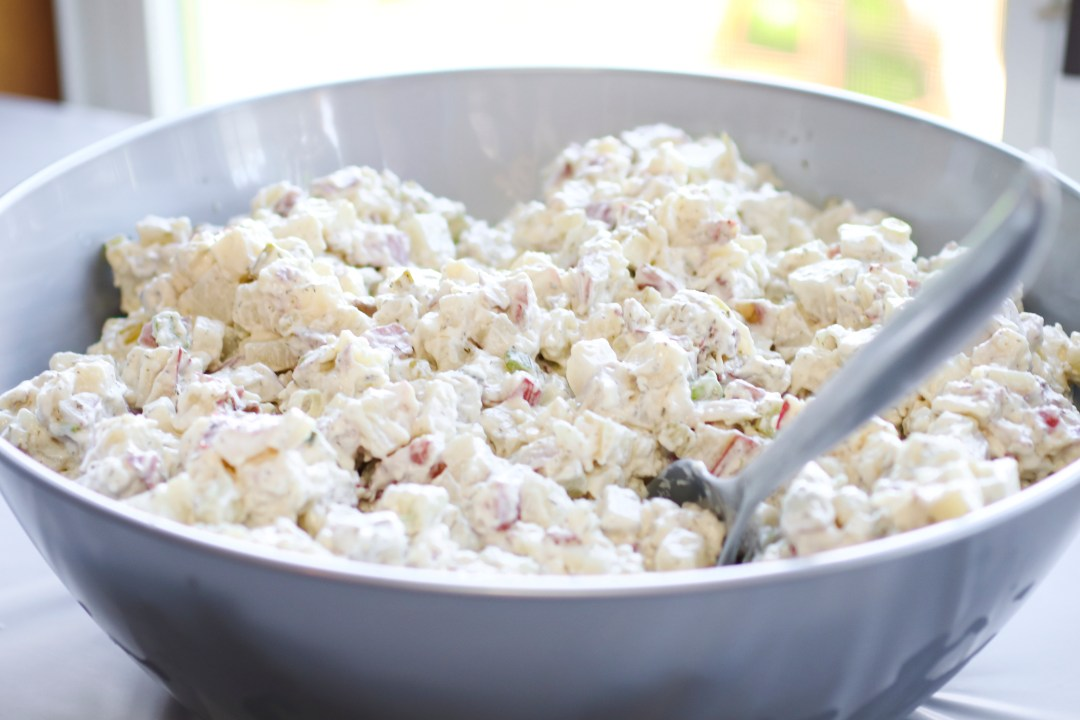 Potato Salad Recipe | Potato Salad | Manhattan Style Potato Salad | Summer BBQ Recipe | Add this delicious redskin potato salad to your summer BBQ menu this year and it is sure to be a hit with your guests!