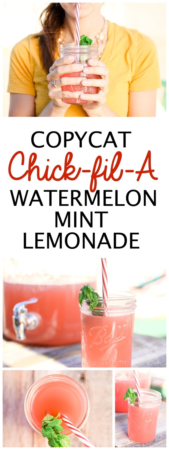 Watermelon Mint Lemonade Chick Fil A Recipe Copycat   Summer Drinks   Fourth of July   Food Ideas   Party Food   BBQ   Drink Recipes   Lemonade Recipe   Summer Fun   Things to Do   Fresh Food   Fruit Recipes   Frosted Sunrise