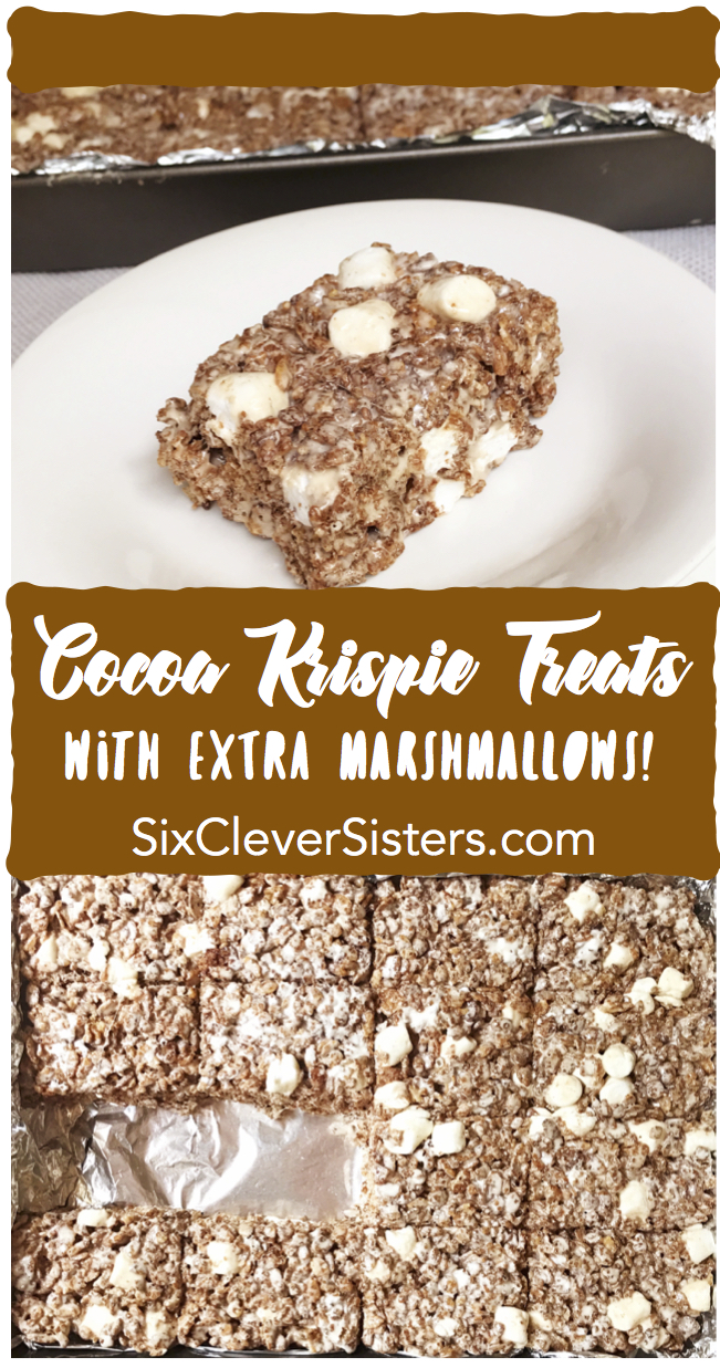 Cocoa Krispie Treats | rice krispie | Marshmallows | Kid Food | Rice Krispy Treats | Rice Krispie Recipes | Summer Dessert | Summer Party | Kid Desserts Easy | Kid Snack Ideas | Party Food | Picnic Food | Summer Fun