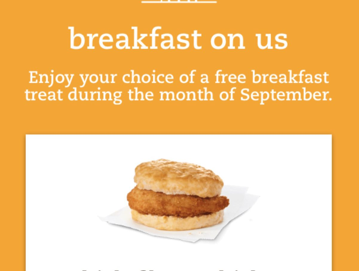 photo regarding Chickfila Coupons Printable known as Chick-Fil-A Absolutely free Breakfast Chick-Fil-A A single Application - 6