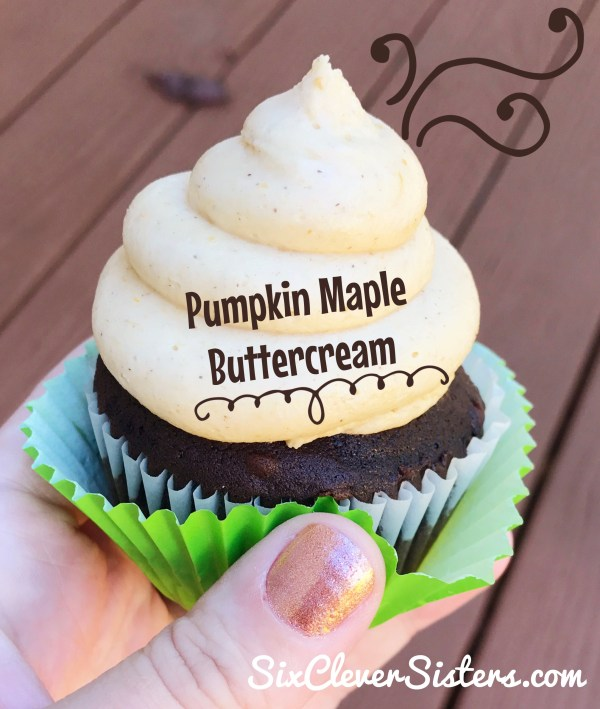 Pumpkin Maple Buttercream   Recipe   Frosting   Icing   Cupcakes   Cupcakes recipe   Cake idea   Cupcake Idea   Pumpkin   Pumpkin Dessert   Maple Dessert   Pumpkin Maple   Fall Dessert   Fall Recipe   Dessert   Thanksgiving   Fall Festival Food   Pumpkin Maple Buttercream Frosting Recipe on Six Clever Sisters!