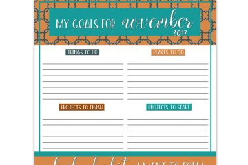 Free Download Goals Worksheet   Free Printable   Printable Worksheet   Goals Worksheet   Goals Printable   Download our free printable goals worksheet each month on the Six Clever Sisters blog!