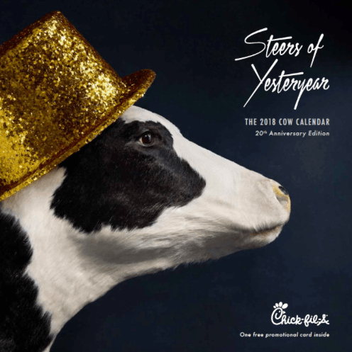 No Card Buy one, get one free! 2017 Chick Fil A Calendar Only