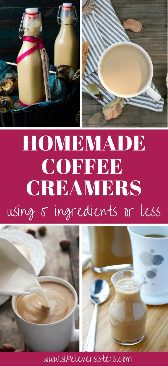 Coffee Creamer Homemade | Coffee Creamer Recipe | Homemade Coffee Creamer | Homemade Coffee Drinks | Homemade Coffee Creamer Recipe | Drinks | Drink Recipe | Coffee Recipe | Coffee Recipe at Home | DIY Coffee Creamer | Fun Drinks | Hot Drinks For Winter | Try these homemade coffee creamers for a nice winter warm-up! Full list on Six Clever Sisters.