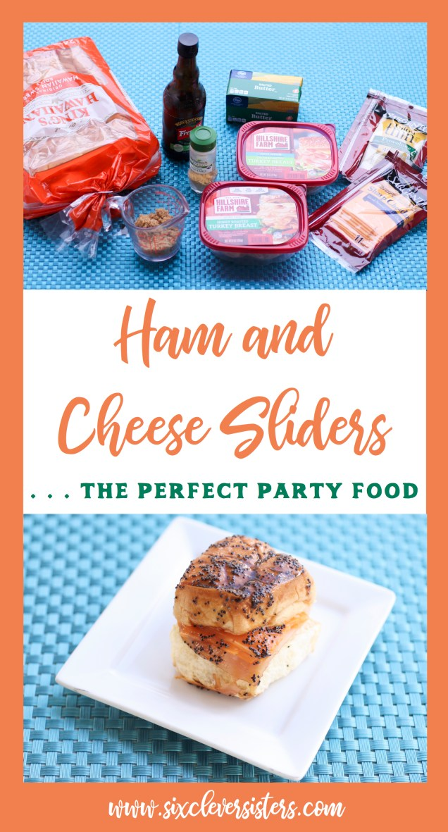 Ham and Cheese Sliders | Ham and Cheese Sliders On Hawaiian Rolls | Ham and Cheese Sliders Easy | Ham and Cheese Sliders With Brown Sugar | Party Food | Party Food For a Crowd | Party Food Easy | Sliders Recipes | Sliders Recipes Hawaiian Rolls | Sandwiches | Sandwich Recipe | These little sandwiches are filled with so much goodness, they're sure to be a crowd favorite! Visit sixcleversisters.com for the entire recipe.