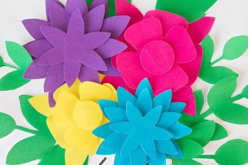 Paper flowers archives six clever sisters pretty paper flowers free printables mightylinksfo