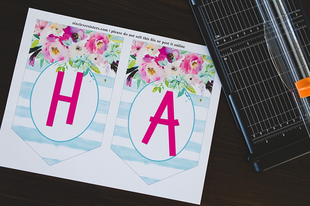 Printable Birthday Banner ~ Free printable birthday banner six clever sisters