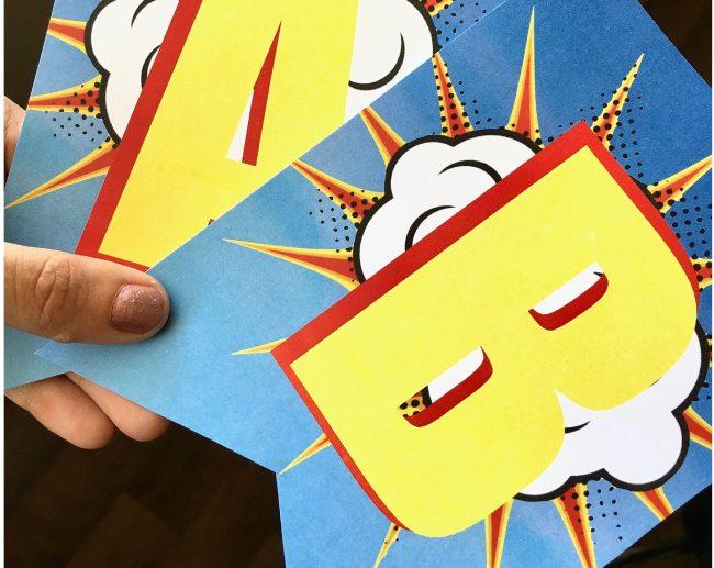 Free Printable Superhero |Superhero Banner | Superhero Birthday Party | Superhero Party | Superhero Printables | Superhero Printable Banner | Superhero DIY | Superhero DIY Banner | Superhero Party Ideas | Batman Party | Superman Party | Antman Party | Superhero Free Printable Birthday Banner | Six Clever Sisters