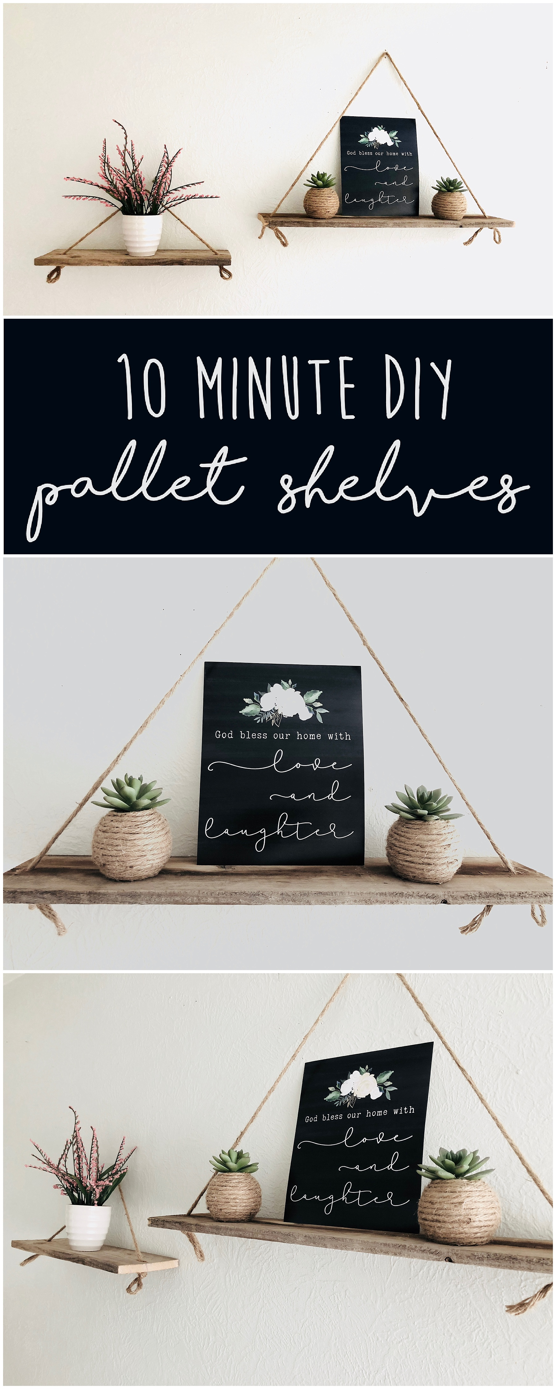 Easy Diy Pallet Shelves Six Clever Sisters