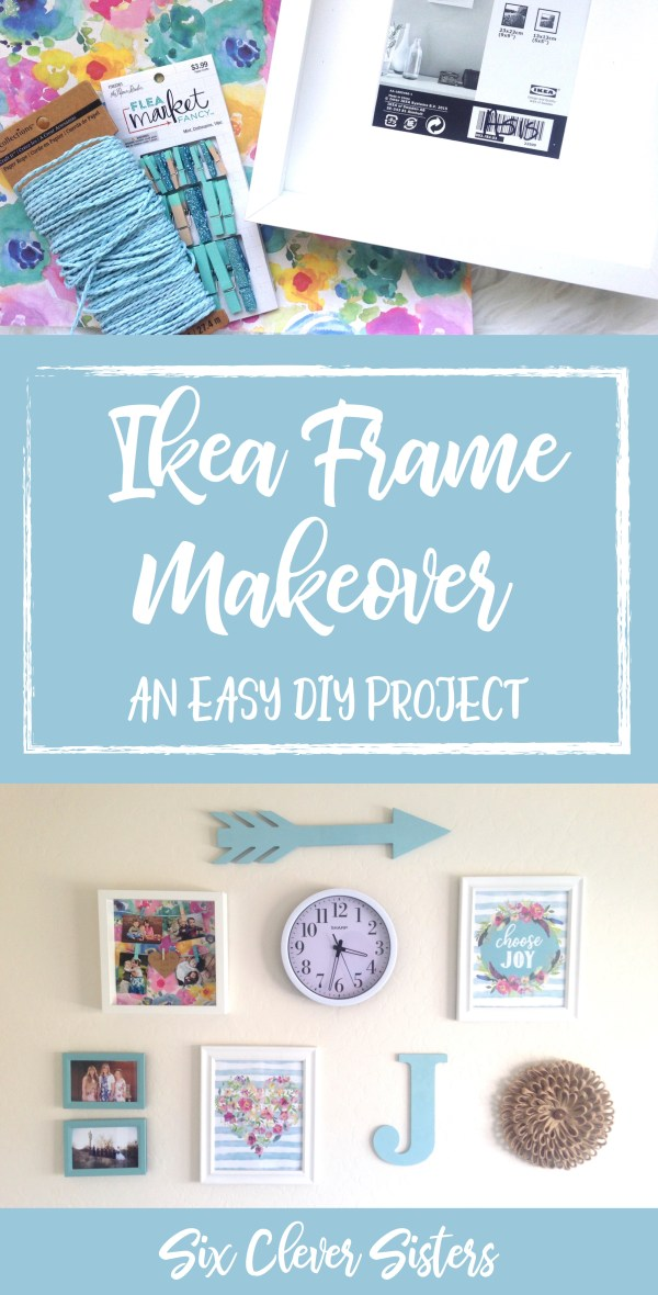 DIY Ikea Picture Frame | Ikea Frame Hack | Ikea Picture Frame Hack | Ikea Photo Frame Hack | Ikea Ribba Square Frame | Ikea Ribba Frame White | Ikea DIY Crafts | Ikea DIY Projects | DIY Ikea Hacks | DIY Ikea | DIY Ikea Photo Frame | DIY Ikea Ribba Frame | Want to turn an IKEA frame into an easy diy project? You can make a cute photo holder in 5 minutes and no special skills are needed! #makeover #ikea #sixcleversisters