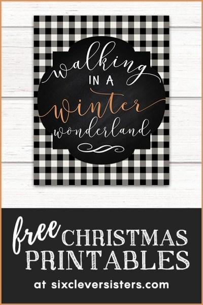 Free Christmas Printables   Free Christmas Printables Buffalo Plaid   Free Christmas Printables Buffalo Check   Free Christmas Printables Black and White   Plaid Christmas Printables Free
