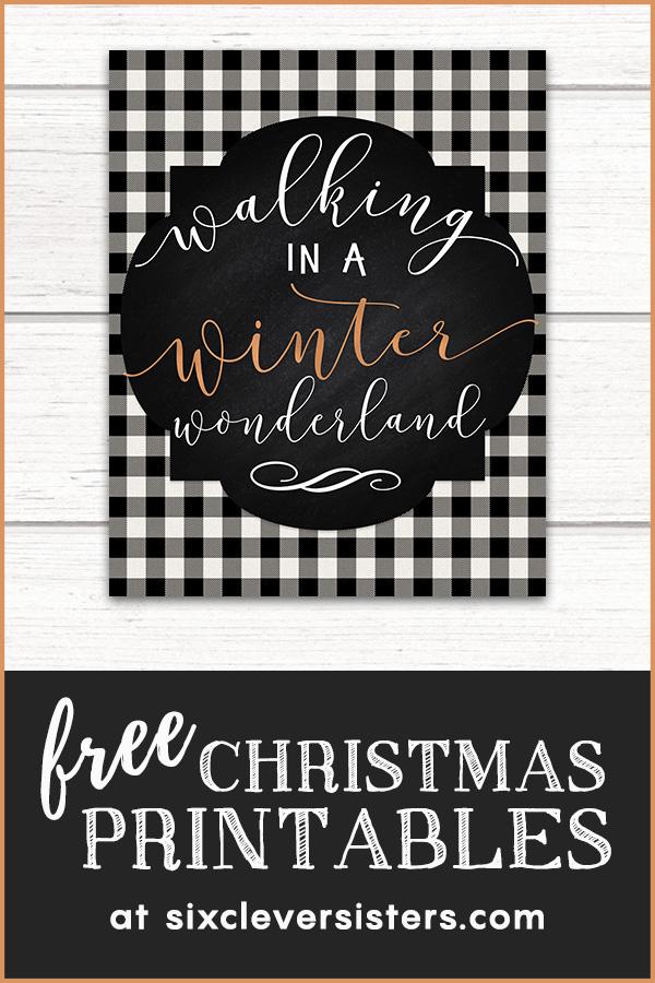 Free Christmas Printables | Free Christmas Printables Buffalo Plaid | Free Christmas Printables Buffalo Check | Free Christmas Printables Black and White | Plaid Christmas Printables Free
