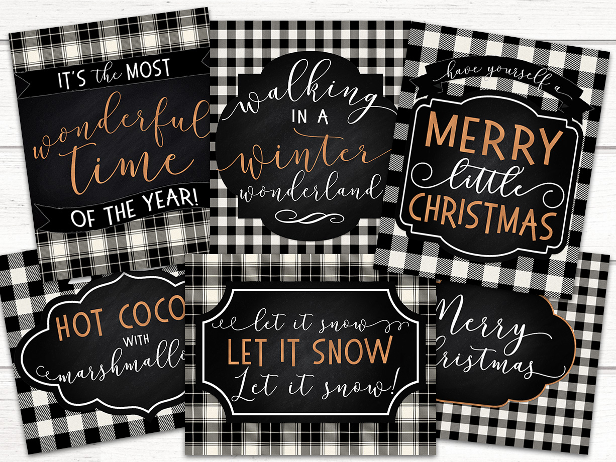 picture regarding Free Printable Christmas Signs called 6 Totally free Printable Xmas Symptoms - 6 Wise Sisters