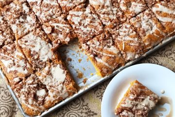Pumpkin Streusel Bars | Pumpkin Bars | Pumpkin Dessert | Fall Dessert | Coffeecake | Pumpkin Coffeecake | Pumpkin Bread | Pumpkin | Autumn | Maple | Maple Glaze | Maple Dessert | Streusel | Streusel Coffeecake