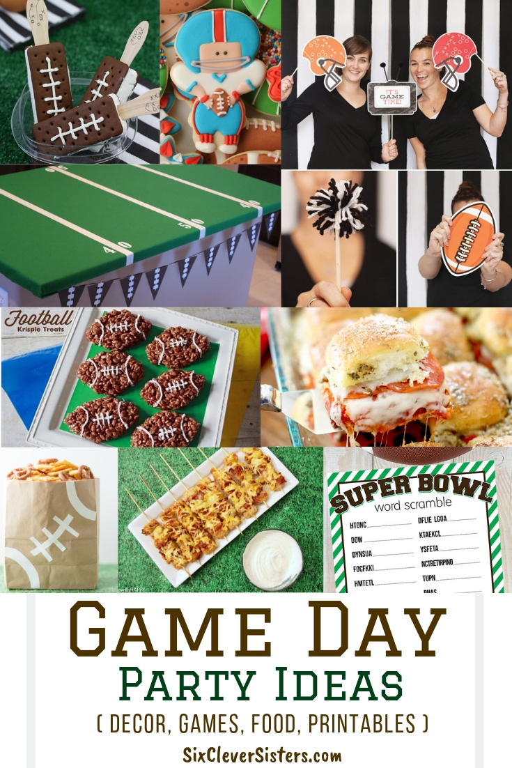 Game Day Party Ideas Decor Games Food And Free Printables