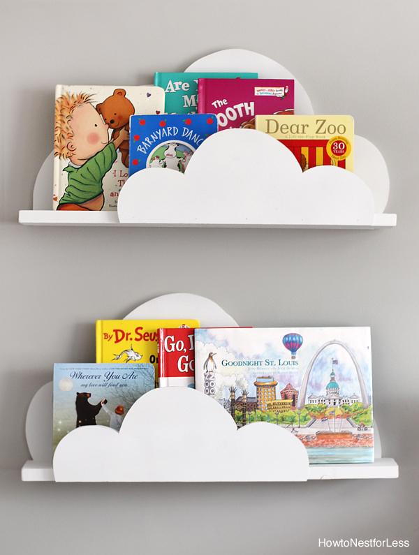 10 Amazing Tutorials for Kids' Room Bookshelves | Bookcase | Bookshelf Ideas | Bookshelf DIY | Bookshelf Kids | Kids Room | Kids Decor | Book Organization | Room Organization | Storage Kids | Tutorial Bookshelf | Six Clever Sisters