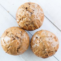 Espresso Chocolate Chunk Muffins with Espresso Cream Glaze