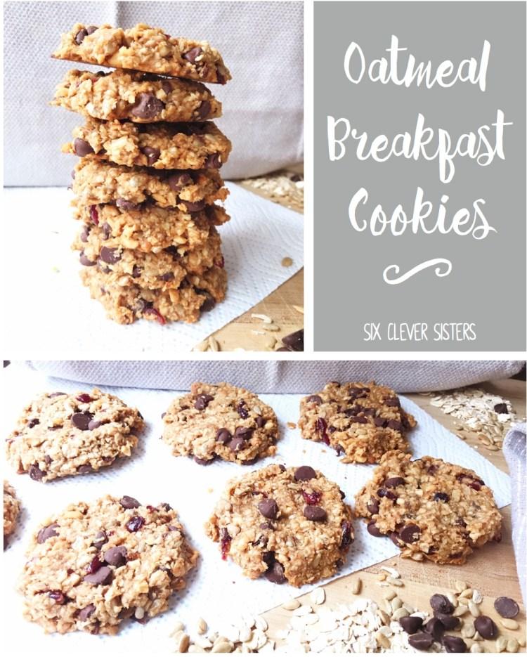 Oatmeal Breakfast Cookies | Oatmeal | Healthy Breakfast | Heart Healthy | Oatmeal Recipes | Breakfast Recipes | On the Go Breakfast | Breakfast Ideas | Breakfast Meal Prep | Oatmeal Cookies | Healthy Breakfast